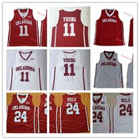 0d36cdbe609b Mens NCAA Oklahoma Sooners Trae Young Basketball Jerseys Stitched Red White  Blank  24 Buddy Hield Oklahoma Sooners Jerseys S-3XL