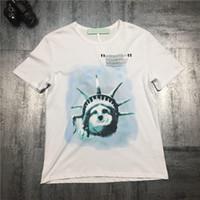 Wholesale wrinkles online - New Statue of Liberty Designer T Shirts Hip Hop Mens Designer T Shirts Fashion Brand Mens Womens Short Sleeve S XL
