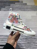 zapatos de marca de moda al por mayor-Zapatillas de lona de alta calidad 19SS Flowers Technical B23 B24 High Top en oblicua para hombre marca B23 zapatos de diseño para mujer zapatillas de deporte de moda
