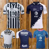 camisas por lotes al por mayor-lote 2019 k tailandesa Monterrey 19 camisetas de fútbol D.PABON R.FUNES MORI camiseta de fútbol 2019 Tamaño Monterey Jersey puede ser mezclado