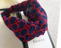 белые кружевные шарфы оптовых-Дизайнерские кружевные повязки на голову женские повязки на голову с логотипом Full G White Puple Turban повязки на голову Повязка на голову для волос с биркой C335