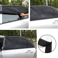 Wholesale rear sunshades resale online - Car sunshade net cm rear window mesh bag window cover sunshade UV protection car cover visor protector mesh LJJZ529