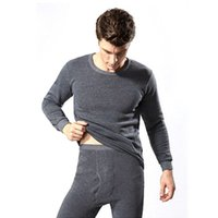 ingrosso top johns inferiori-2Pcs Winter Warm Cotton Cotton Underwear Sets Long Johns Tops Bottom Wear 3 Colori