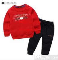 ingrosso zebra inverno cappotto-Bambini Set giacca Bambini Felpe con cappuccio e pantaloni 2 pezzi / set Bambini Sport Set Baby Boys Girls Winter Cappotti Set di pantaloni