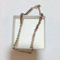 Wholesale lock chains necklaces for sale - Group buy New fashion D necklace metal letters necklace with gift box for ladies collection luxury design locking chain jewelry accessories vip gift