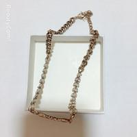ingrosso collane in stile messicano-Nuova collana di metallo D collana di moda con scatola regalo, per la collezione di gioielli di lusso collezione di gioielli di accessori da donna vip regalo