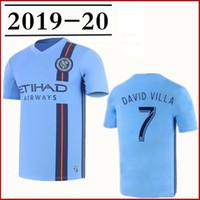 camisa de futebol new york venda por atacado-2019 20 NYC FC New York City camisa de futebol movimento polo casa LAMPARD PIRLO MCNAMARA MORALEZ DAVID VILLA Camisas de futebol crianças kits