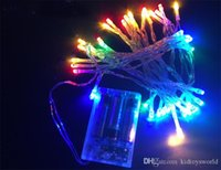 brinquedos de natal a pilhas venda por atacado-4.5 m 40light corda de fio de cobre luzes led decoração de casamento de natal luzes de fadas bateria operar cintilação presente de natal brinquedo de natal l