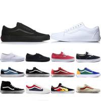 van wand großhandel-Vans 2019 New Van OFF THE WALL alte Skool Furcht vor Gott Für Männer Frauen Canvas Sneakers YACHT CLUB MARSHMALLOW Mode Skate Casual Schuhe