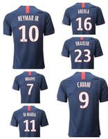Wholesale neymar jerseys resale online - 19 customized Number CAVANI NEYMAR JR Di María Mbappé Jesé Guedes Diarra VERRATTI Thai Quality Soccer Jersey Wear