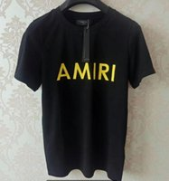 Wholesale piping suit design for sale - Group buy AMIRI Man jogging suit men luxury diamond design Tshirt fashion t shirts women funny t shirts polos ralph hombres cotton tops and tees
