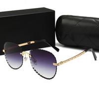 óculos de sol na moda da senhora venda por atacado-CHANEL 4258 Óculos de sol para homens mulheres moda óculos de sol das senhoras retro óculos de sol dos homens de grandes dimensões óculos de sol na moda espelho designer