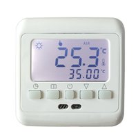 Wholesale room thermostat controller for sale - Group buy New Underfloor Heating Thermostat with White Backlight LCD Keys Weekly Programmable Room Warm Temperature Controller NTC Sensor