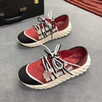 dantel yakala toptan satış-yardım iki renkli bağcıklar ipek deri kaymayan için 19 yeni Avrupa istasyon düşük gevşek taban moda göz alıcı trendi erkek ayakkabıları