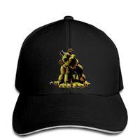 boné amarelo venda por atacado-Boné de beisebol Golden Five Nights at Freddys Urso Amarelo Fazbear Pizza FNAF Gamer Hat Boné de pala