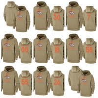 Wholesale youth style for sale - Group buy Men Women Youth Hot Style Bronco Customize Any Number Name Salute to Service Therma Pullover Hoodie