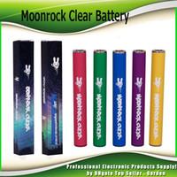 vape führte batterie leuchtet großhandel-Moonrock Clear Batterie Dr.Zodiaks 350mAh Vorheizen 10.5mm 510 Bud Touch LED Licht Vape Pen Für Bobby Blue Razzle Dazzle Carts Cartridge