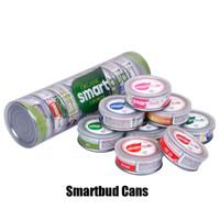 ingrosso vasi vuote-Smartbud Vuoto Tin Cans 3.5 Gram intelligente Organic Bud Carrelli Jar vasca di lavaggio a Herb cartuccia Vape Fiore Packaging