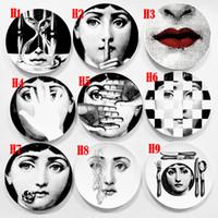 Wholesale living art ceramics resale online - 100 New Brand inch Crafts Decoration Ceramic Plates Home Decoration Plate Porcelain Wall Hanging Art Plates