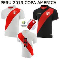 Wholesale mai resale online - 19 copa america peru soccer jerseys home peru GUERRERO CUEVA YOTUN football shirts camiseta de fútbol mai
