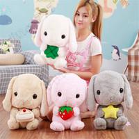 kaninchen großes gefülltes spielzeug großhandel-New cute lop Kaninchen Puppe Langohr Kaninchen große Kaninchen Puppe Plüschtier Kuscheltiere Weihnachtsgeschenk