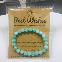 Wholesale bracelet aventurine for sale - Group buy 2019 New Natural Blue Aventurine Stone Bracelets For Women Section Bead Bracelet Charm Yoga Mala Healing Reiki Hand made Jewelry