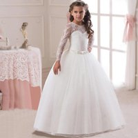 Wholesale teenage girls prom dresses for sale - Group buy 2019 Spring Teenage Long Sleeve Christmas Dress Party Prom Wedding Dress Kids Dresses For Girls Costume Clothes Princess