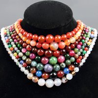naturstein perlen rot groihandel-Natürlicher Achat Halsketten Roter Achat Indischer Grasachat Turm Kette Halskette Naturstein Perlenkette