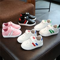 Wholesale girls tongs resale online - Autumn Girls Woman Shoes Children Girl Casual Shoes Student Movement Comfortable Skate Shoes In Will Chao Tong