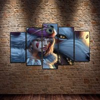 Wholesale cartoon princess paintings for sale - Group buy 5Pcs Princess Mononoke Cartoon Characters Oil Painting Poster Wall Art HD Print Canvas Painting Fashion Hanging Pictures
