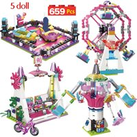 alegrias de brinquedos venda por atacado-669 pcs Meninas Série Parque Da Cidade de Diversão Carnaval De Joy Blocks Compatível Legoingly Amigos Blocos de Construção de Brinquedos Para A Menina ChildrenMX190820