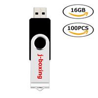 ingrosso bastone di azionamento della penna di memoria 32gb-Bulk nero 100PCS Chiavette USB 2.0 rotanti Chiavetta USB Pen Drive 64MB-32GB Memory Stick Memoria per computer portatile Macbook Tablet