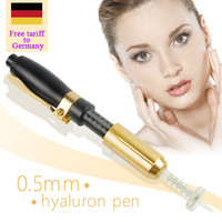Wholesale free syringes needles resale online - Free tariff to Germany hyaluron pen gun ml hyaluronic injection pen atomizer wrinkle removal water syringe needle free injection needless