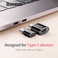 apfel usb c großhandel-Baseus Micro USB Typ C OTG Adapter Typ C Stecker auf Micro USB Ladegerät Stecker Adapter Konverter Micro USB auf USB-C Adapter