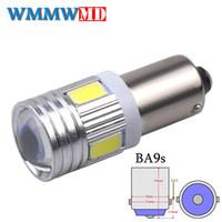 Wholesale ba9s t4w resale online - 1Pcs BA9S SMD LED Canbus lamps Error Free t4w h6w Car LED bulbs interior Lights Car Light Source parking V White K