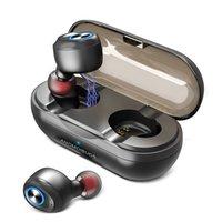 ingrosso cuffie costruite mic-Cuffie Bluetooth TWS Wireless Charge Cuffie sportive impermeabili Hi-Fi Audio stereo Auricolari In-Ear V5.0 Mic incorporato per telefoni cellulari