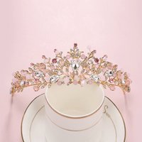 Bridal Crowns Flower Bride Hair Jewelry Crystal Princess Tiaras Crown Wedding Tiaras Hair Accessories Baroque Birthday Party Tiaras Earring