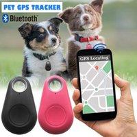 rastreador c al por mayor-Nueva mascota Smart Bluetooth Tracker Perro GPS Localizador de cámara Perro Rastreador de alarma portátil para llavero Bolsa Colgante Autodisparador remoto Conveniente para c