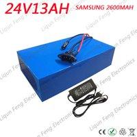 импортные батареи оптовых-Бесплатная доставка 24 В 13AH 350 Вт импортный аккумулятор Samsung Ebike 24 В литиевый аккумулятор 24 В с 29,4 В 2A зарядное устройство 15A BMS
