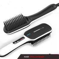redresseur de cheveux de voyage achat en gros de-électrique ionique simplement cheveux raides peigne brosse voyage coiffeur rapide chauffage salon styler fer à lisser brosse à cheveux