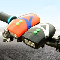 multi-led-scheinwerfer großhandel-3 LED Fahrrad Scheinwerfer Multifunktions 2 in 1 Horn Lampe Wasserdichte Laute Stimme Fahrradbeleuchtung ZZA740