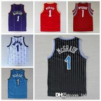ingrosso nero rev-NCAA College 1 McGrady Jersey Tracy T Orlando Houston Rev 30 Nuovo materiale Nero Blu Bianco Rosso porpora R Rockets