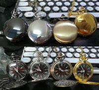 Mix 4Colors Quartz watches Necklace Chain Bronze pocket Roman watches PW080