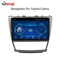sistema de navegação toyota gps venda por atacado-10.1 polegada Android 8.1 Car DVD GPS para Toyota Camry 2006-2012 Sistema de Navegação de Áudio Estéreo de Rádio de Vídeo Bluetooth