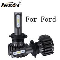turbos de enfoque al por mayor-2Pieces LED bulbo de la linterna para el coche Turbo 12V 6500K 12000lm Auto DRL luz de niebla Para Ford Ranger / Focus / Fiesta / Mondeo / C-Max / Explorador