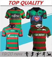 fußball-trikots australien großhandel-2019 2020 South Sydney Rabbitohs Heimtrikot 18 19 20ANZAC Rugbytrikot Australien Rugbytrikots Größe: S-3XL
