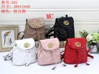 italyan deri çanta toptan satış-Yeni moda sırt çantası kadın markası sırt çantası rahat çanta moda deri kapitone lüks tasarımcı çanta İtalyan çanta ücretsiz shipping20 * 11 * 20