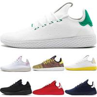Wholesale FC2019 Hot Sale Originals Pharrell Williams Tennis Hu Sports Shoes Cheap Rainbow Stan Smith Running Shoes Man Sneakers SHOES Size US