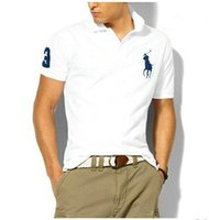 Wholesale polo ralph tops online - Top Quality Ralph Polo American Classic style POLO Design Men s Cotton Double Buckle Polo Shirt Fashion Avant Garde Factory Direct
