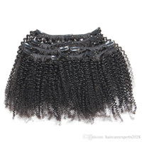 Wholesale natural afro hair products resale online - ELIBESS HAIR Mongolian Afro Kinky Curly Clip In Human Hair Extensions g Set Clips In B C Pattern Remy Hair Products